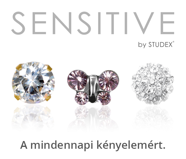 Regular studs from the Sensitive by Studex line